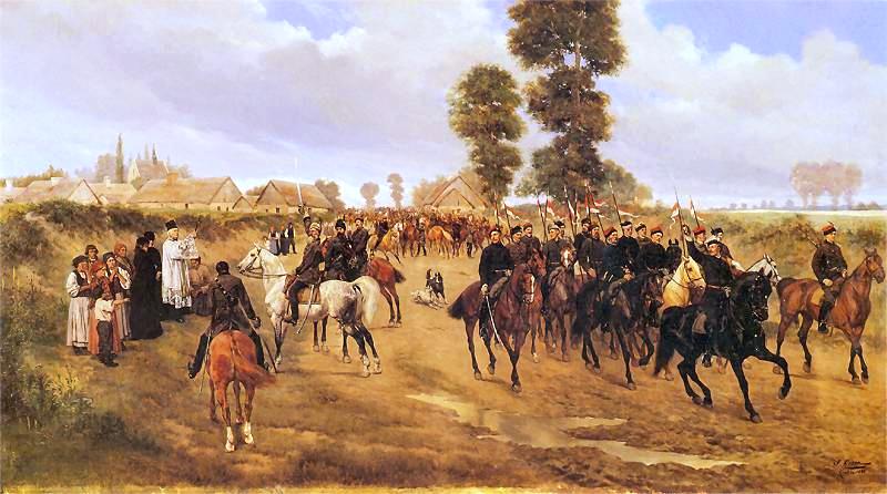 [Soulèvement] Insurrection polonaise de 1861-1864. Patrol_of_Polish_Uhlans_during_January_Uprising_1863