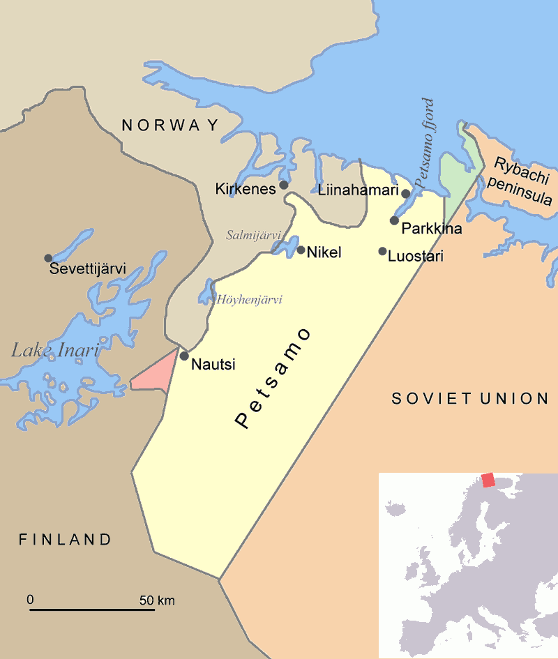 Atlas of finland wikimedia commons seceded territory of petsamo after ww ii gumiabroncs Choice Image