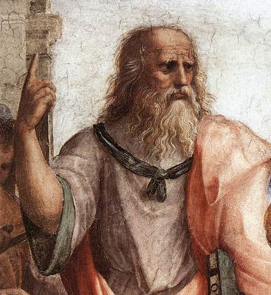 Plato in The School of Athens, by Raphael Plato by Raphael.png