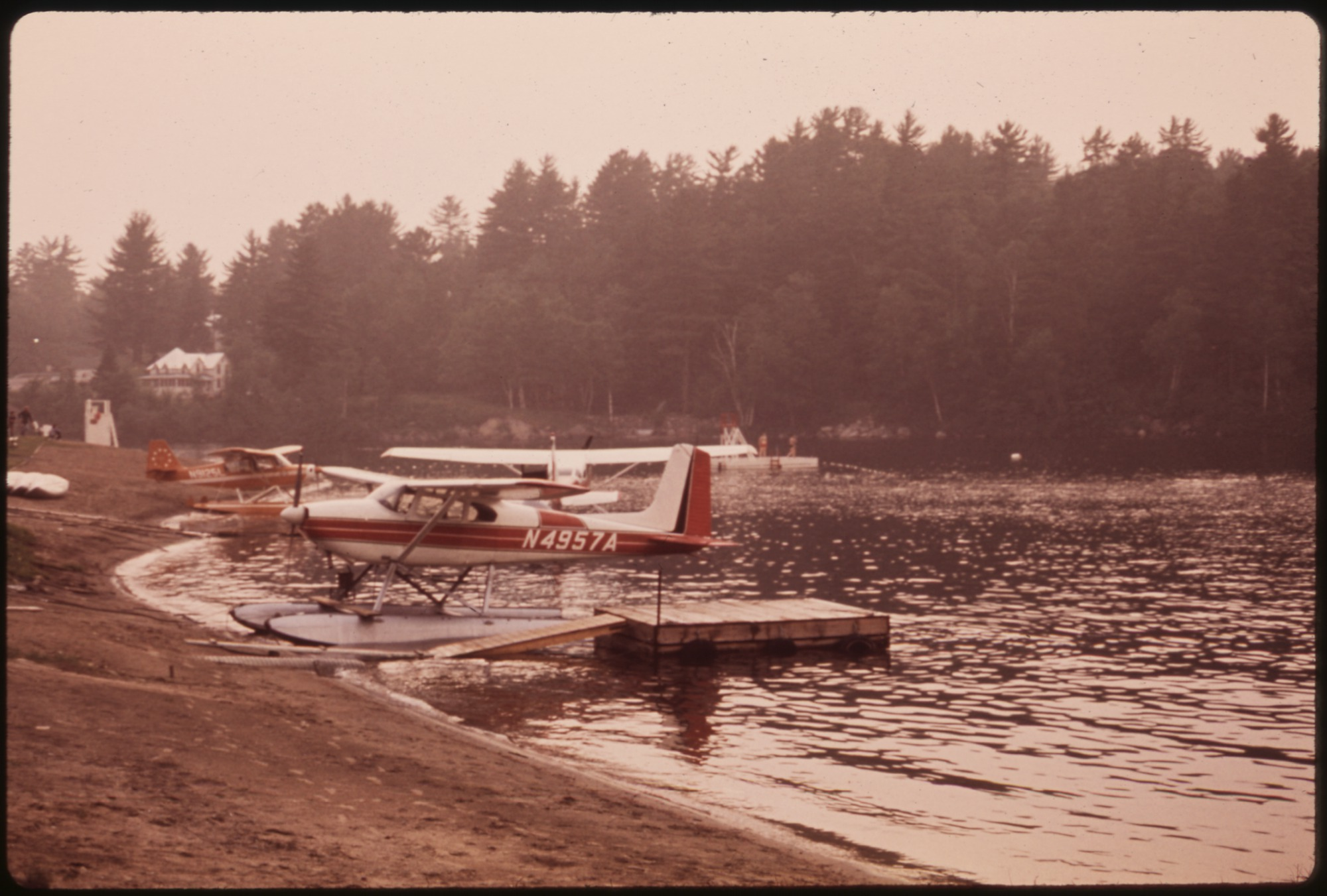 file seaplanes awaiting charter business at their landing