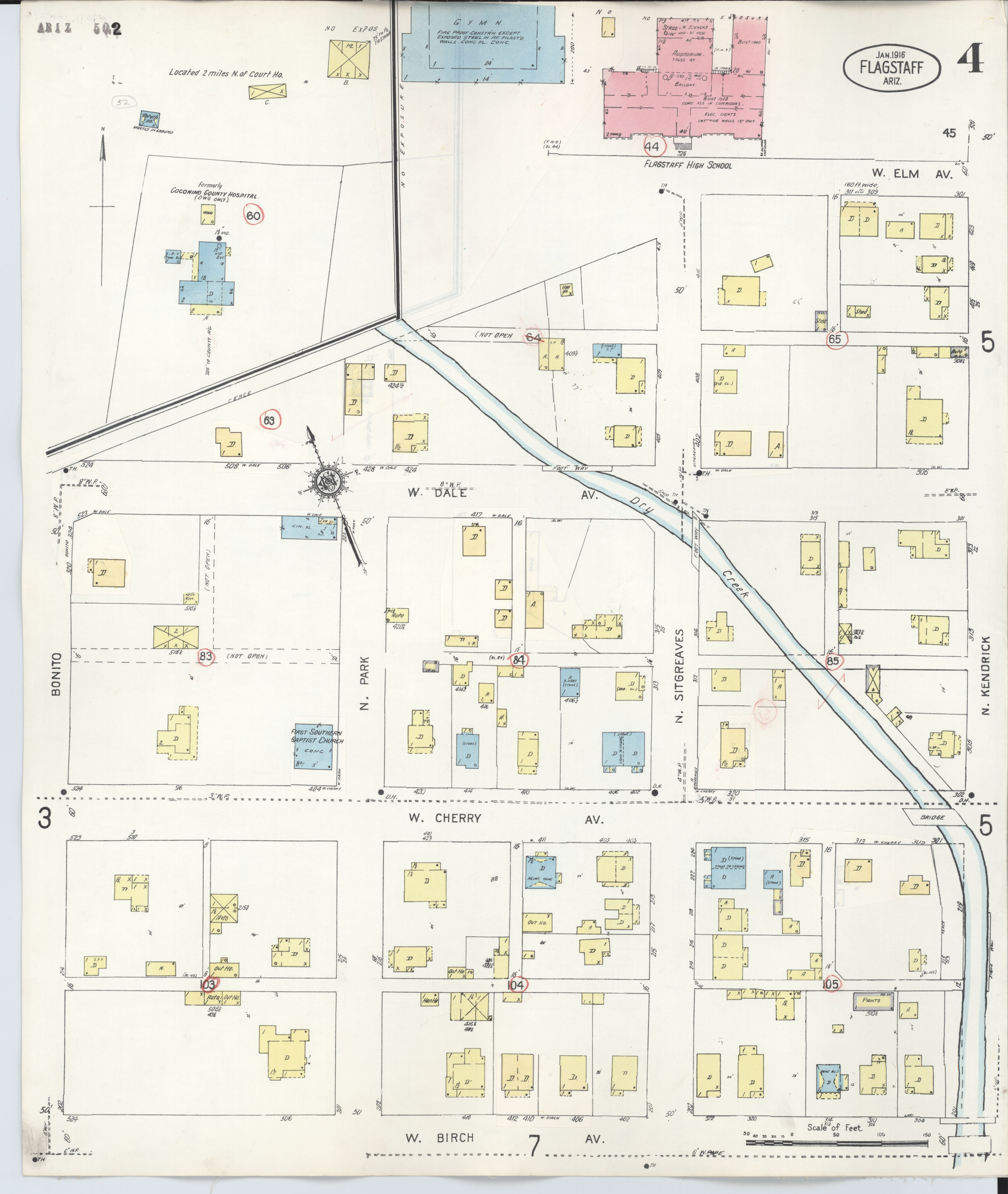 Map Of Arizona Only.File Sanborn Fire Insurance Map From Flagstaff Coconino County