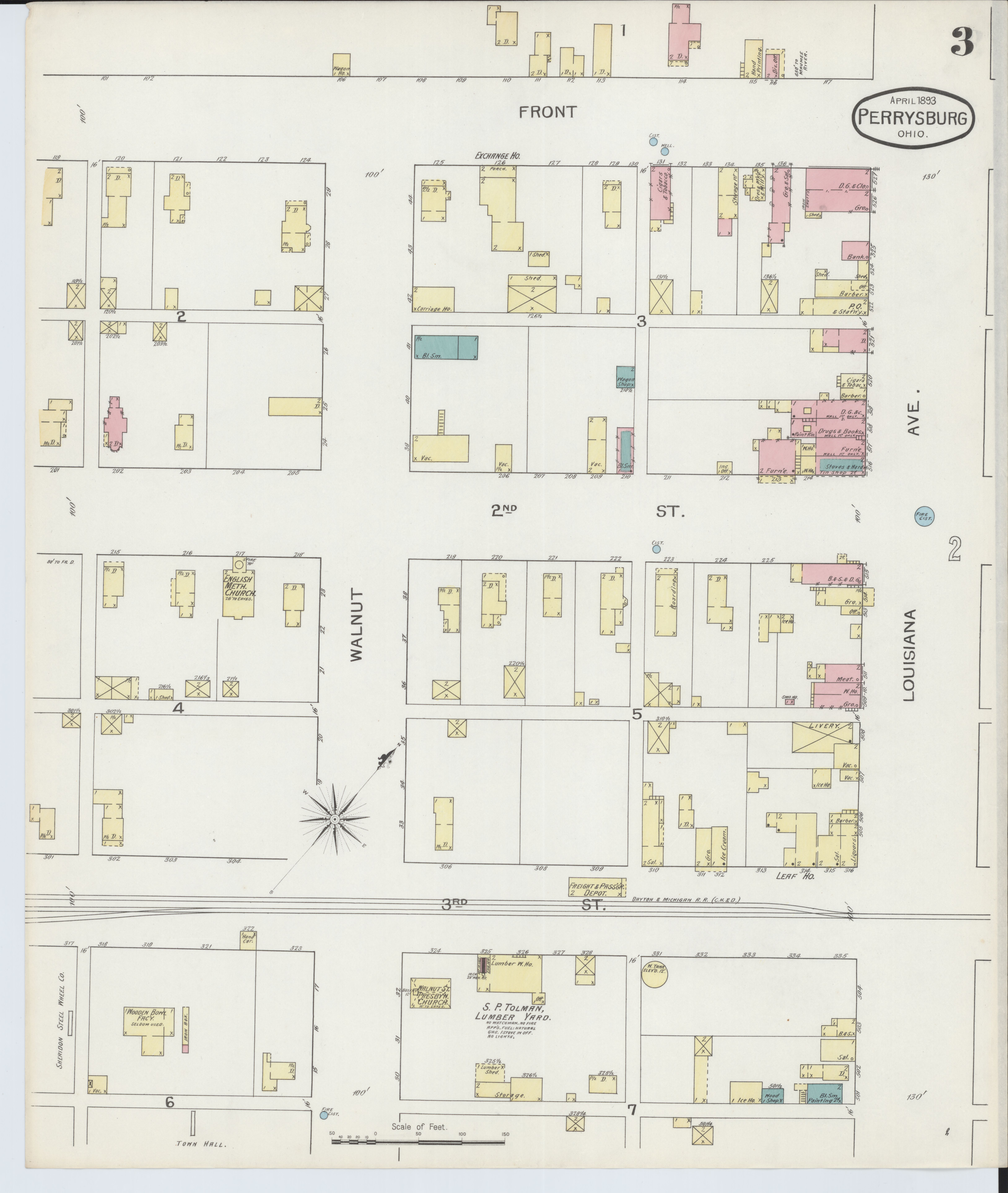 File:Sanborn Fire Insurance Map from Perrysburg, Wood County