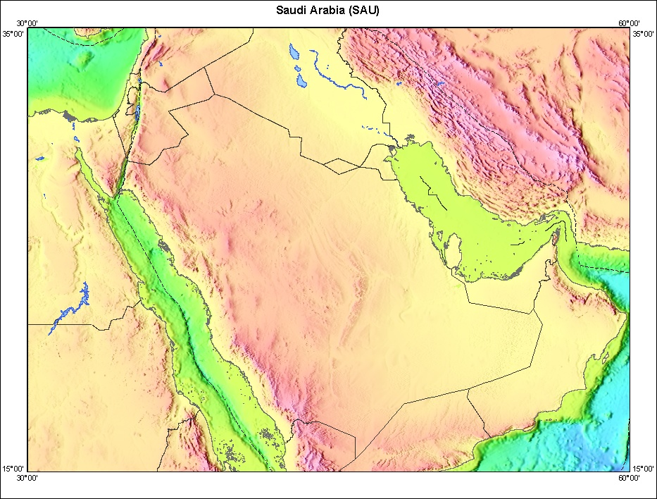 Image:Saudia Arabia topographic map