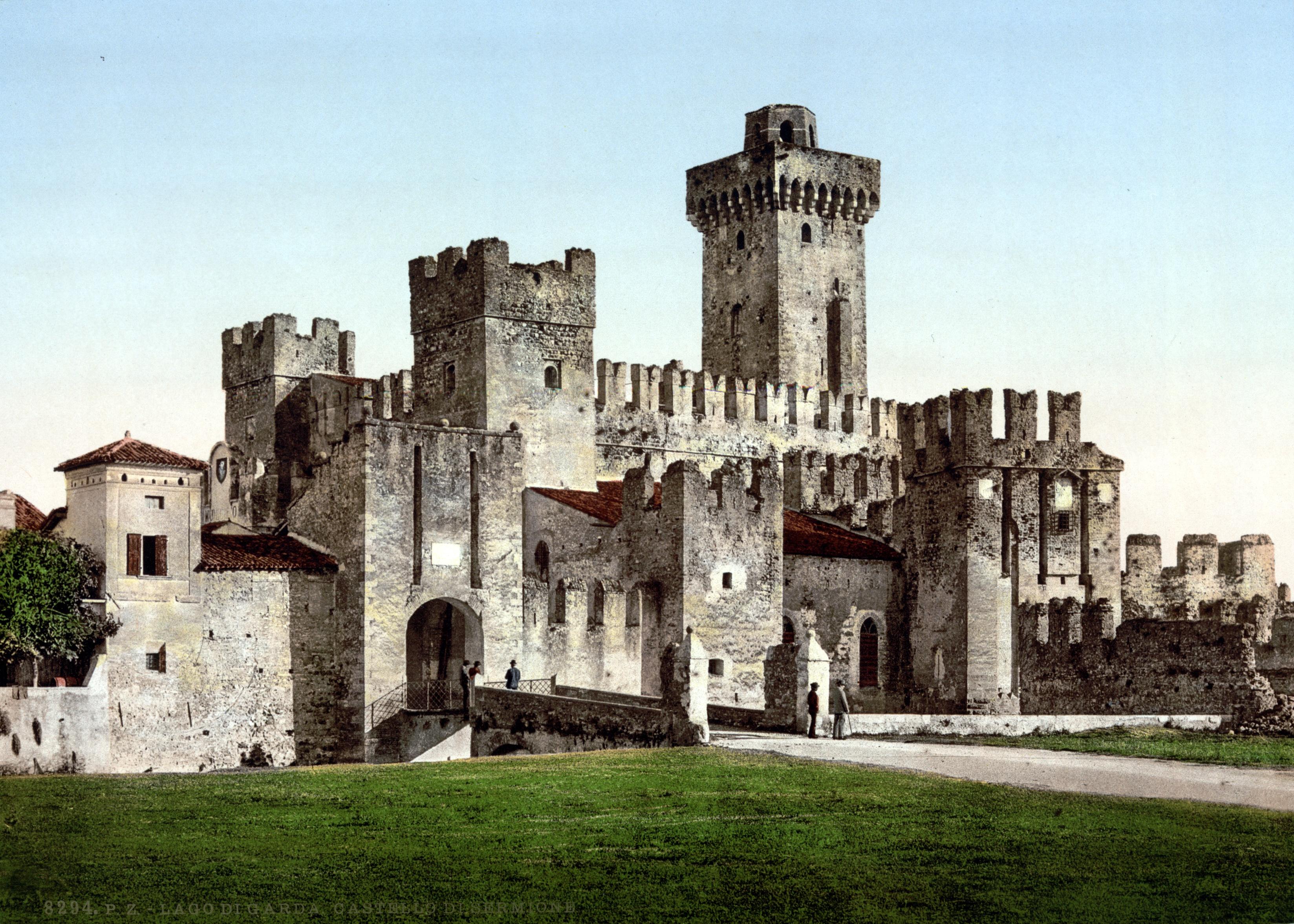 File:Sirmione Castello Scaligero um 1900.jpg - Wikimedia ...