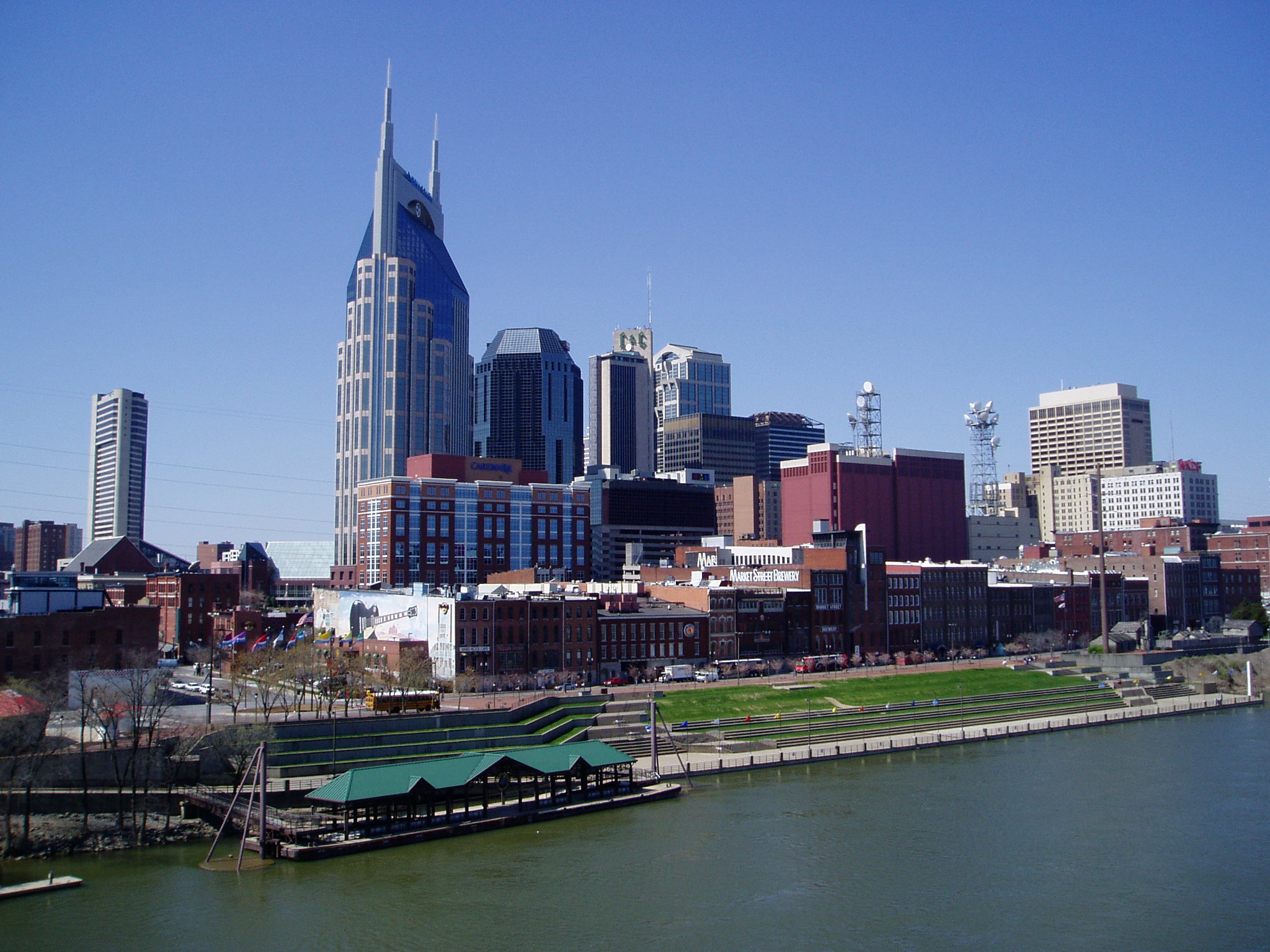 The Nashville skyline - Gentle Giant movers make your move from New York to Nashville stress-free.