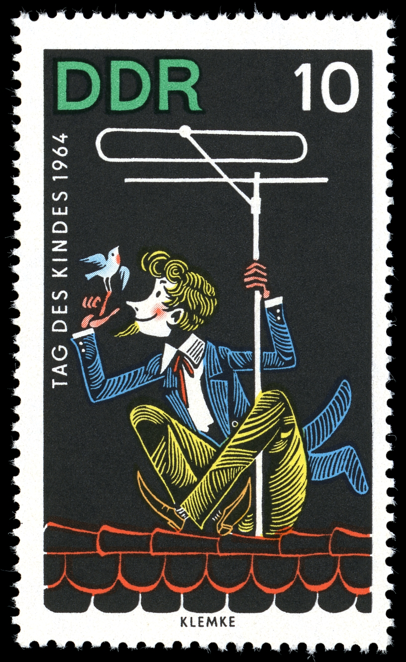 Stamps of Germany %28DDR%29 1964%2C MiNr 1026 - Jungschwuppen english Club at 1st of June