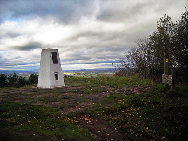 Trig Post on Bulkeley Hill - geograph.org.uk - 1583170