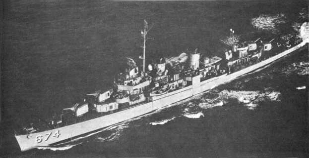 USS Hunt (DD-674) during 1959.