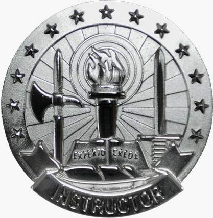 BASIC INSTRUCTOR SILVER ARMY IDENTIFICATION BADGE