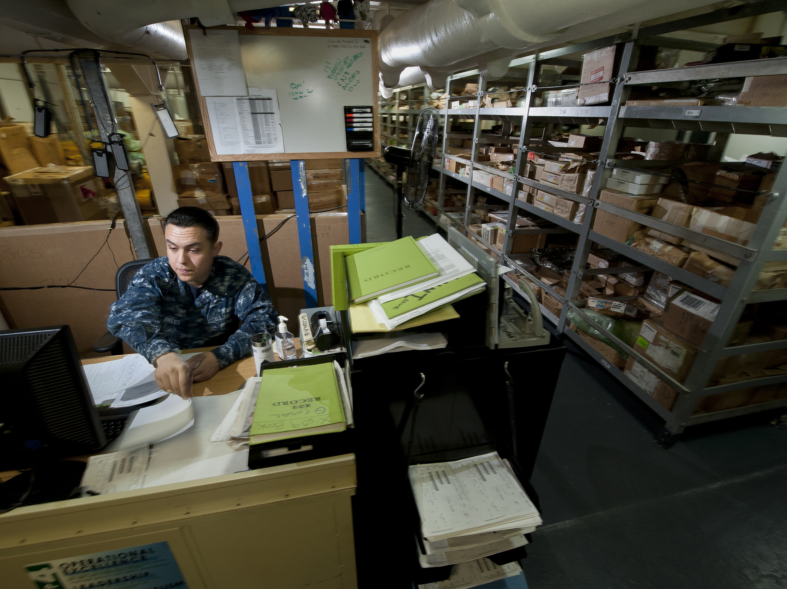 File:US Navy 120206 N DR144 048 Logistics Specialist Seaman Anthony Gonzalez