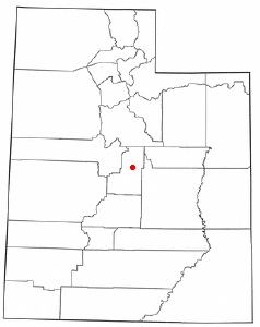 Location of Spring City, Utah