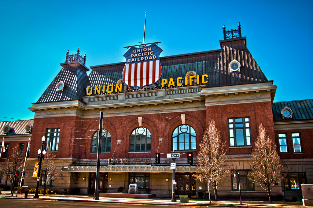 Union Pacific passenger terminal in Salt Lake City. Photo by Eric Pancer via Wikimedia Commons.