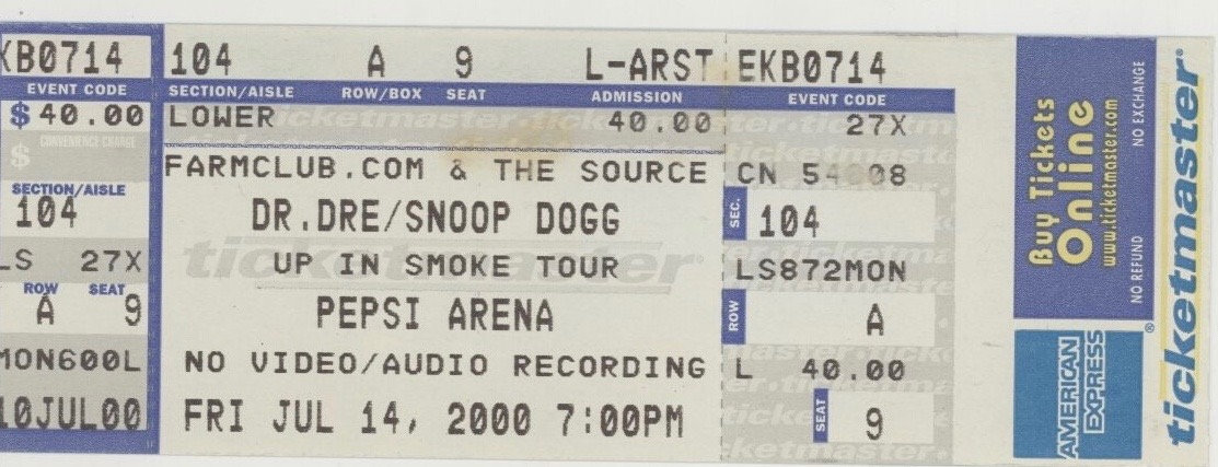 Up in Smoke Tour concert ticket 2.jpg