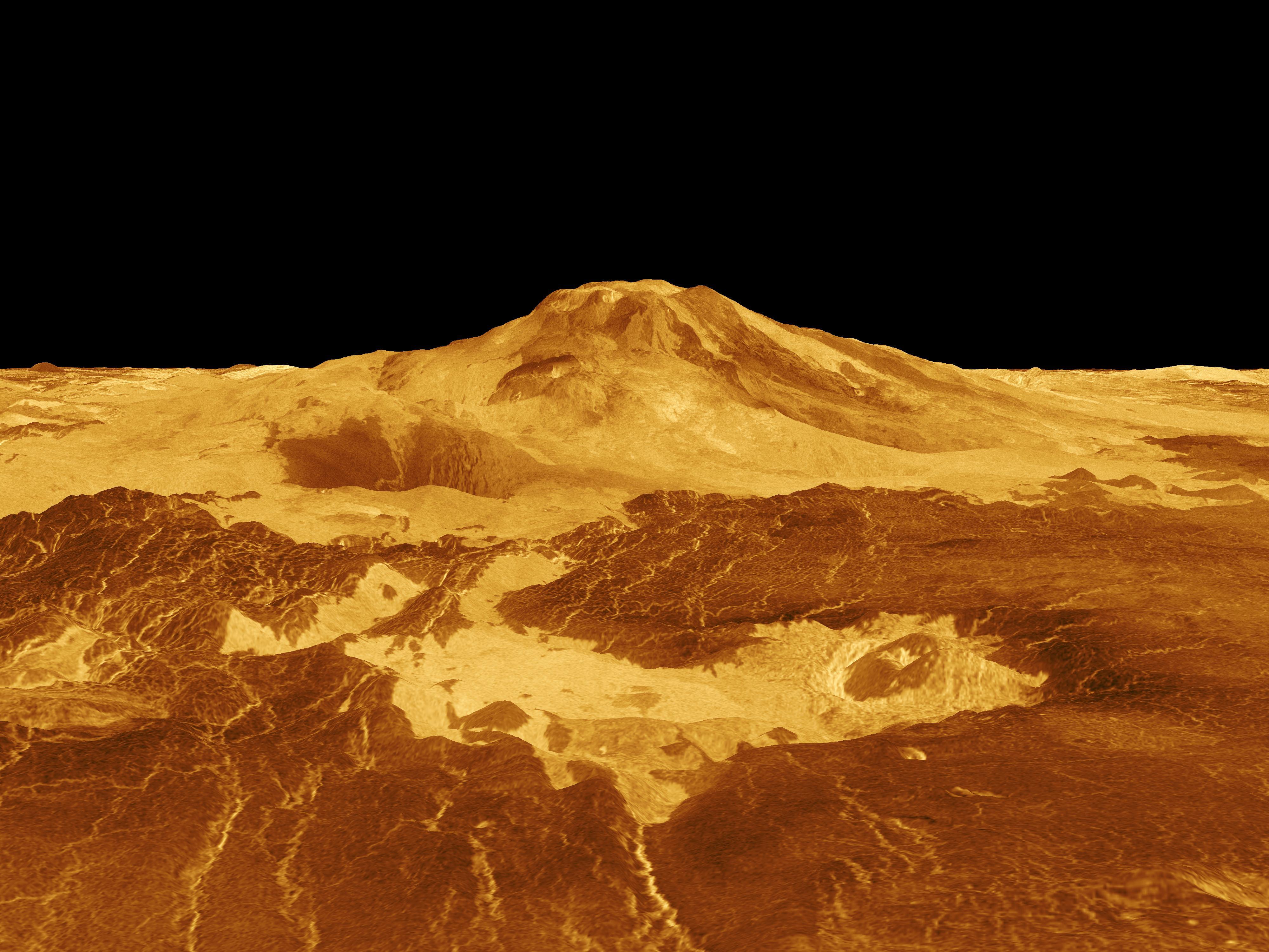 File:Venus - 3D Perspective View of Maat Mons.jpg - Wikipedia