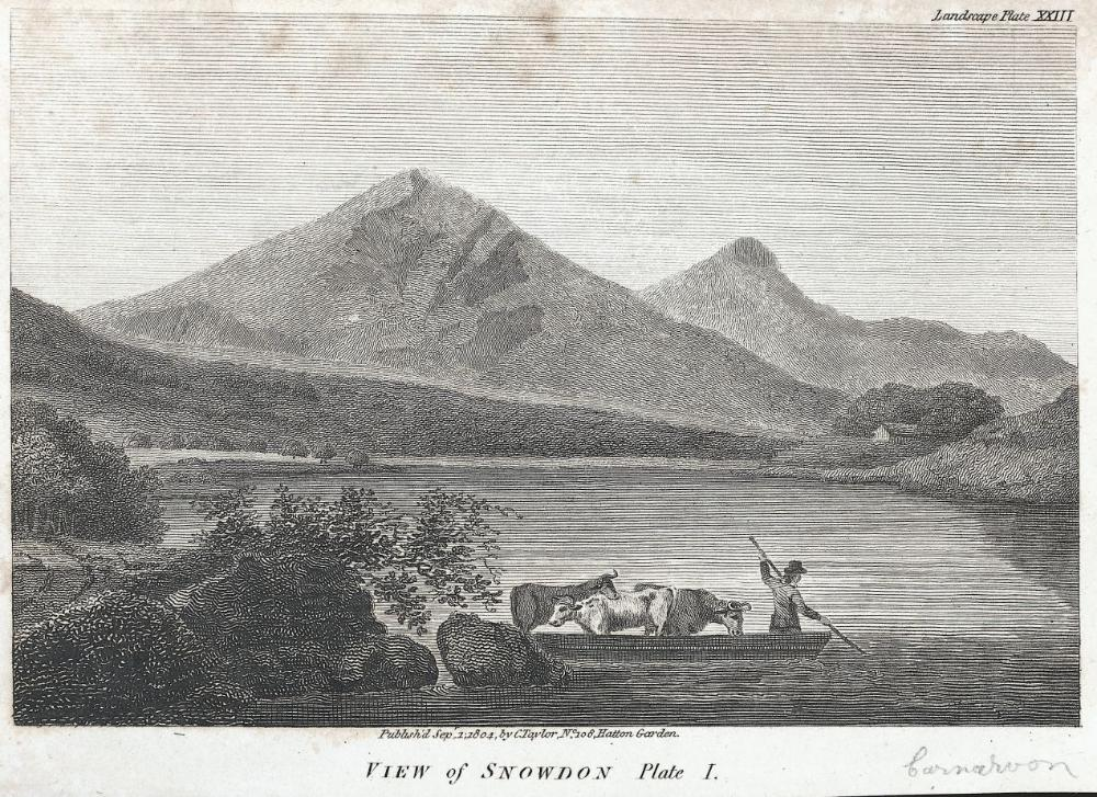 View of Snowdon: Plate I
