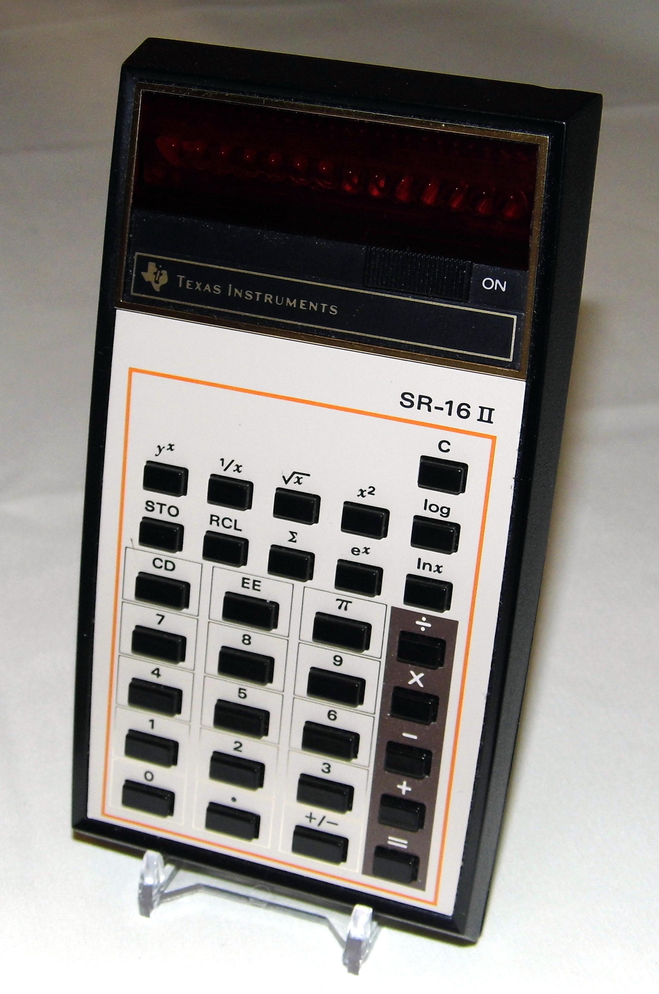 File:Vintage Texas Instruments Pocket LED Calculator, Model SR-16 II