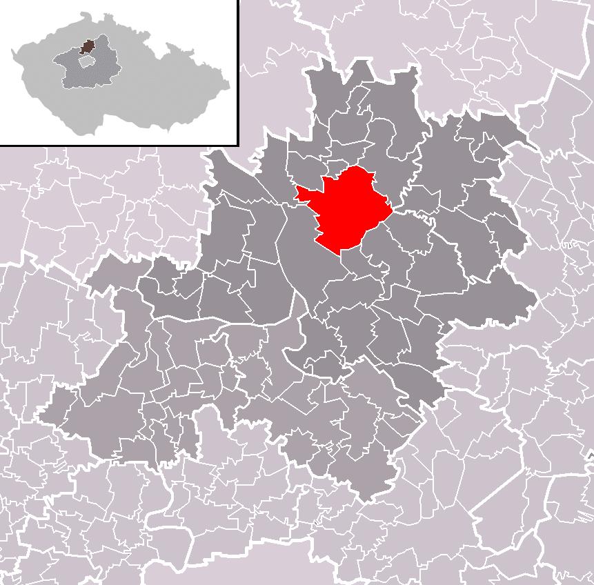 Vysoká locator map