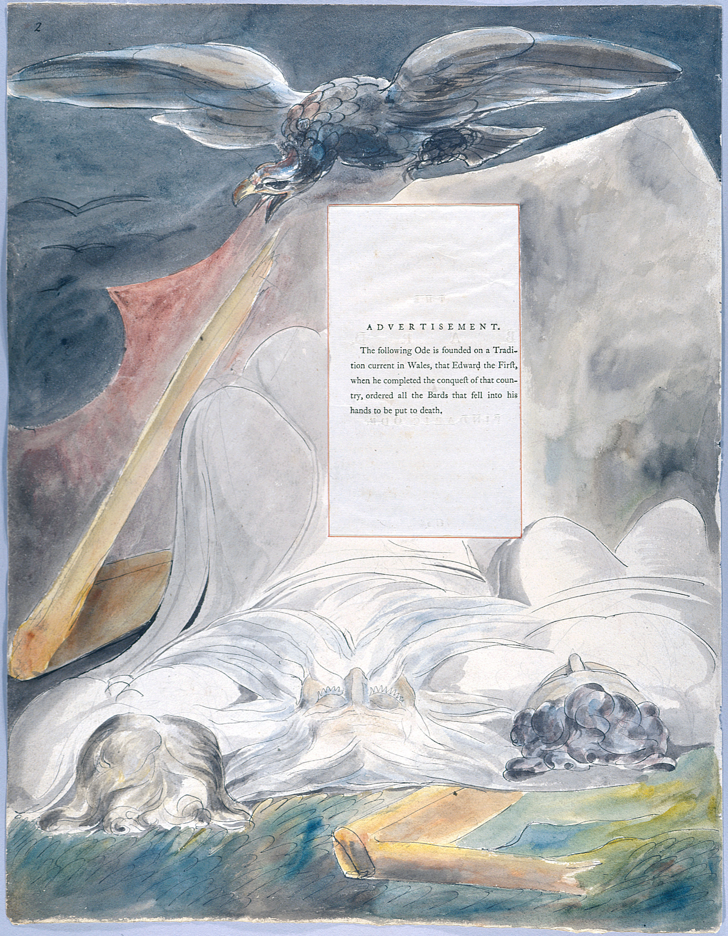 William Blake - The Poems of Thomas Gray, Design 54 The Bard 02.jpg