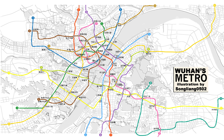 武汉地铁规划图高清_武汉地铁规划图_2020地铁规划高清图_爱妻地铁