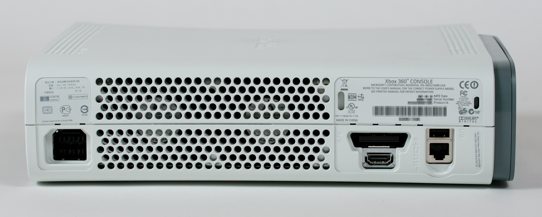 Tiedosto Xbox360 HDMI 203W back jpgXbox 360 Pro Hdmi