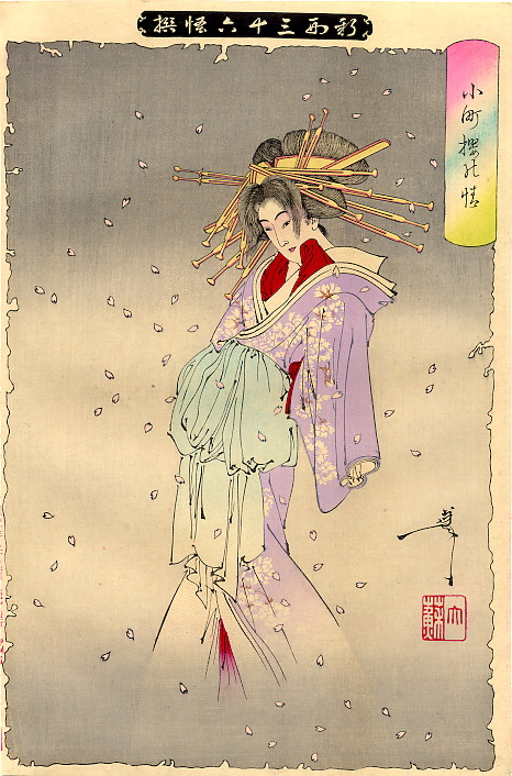 Yoshitoshi The Spirit of the Komachi Cherry Tree.jpg