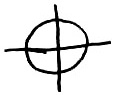 A symbol used as a logo by the Zodiac Killer.
