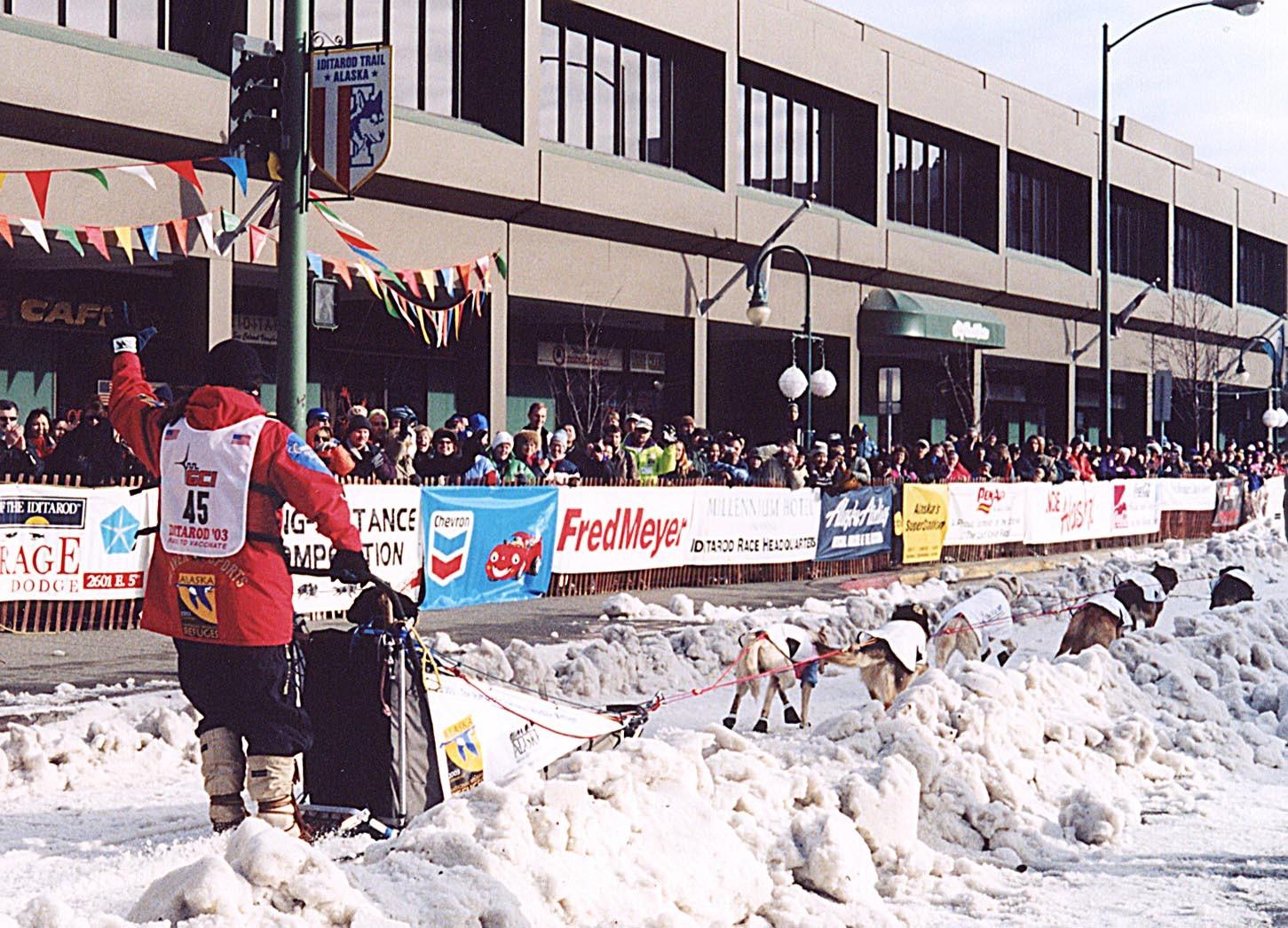 2003 Iditarod start in Anchorage Aliy Zirkle