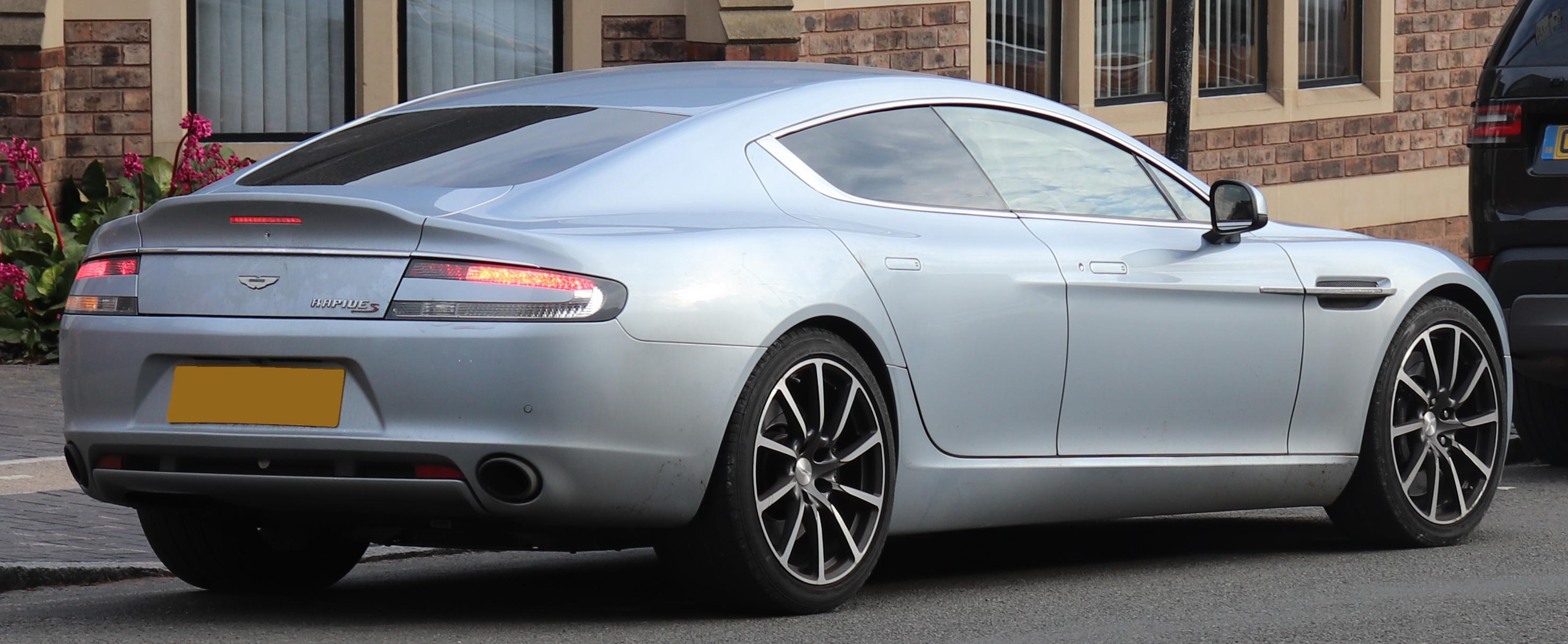 File 2016 Aston Martin Rapide S V12 Automatic 6 0 Rear Jpg Wikimedia Commons