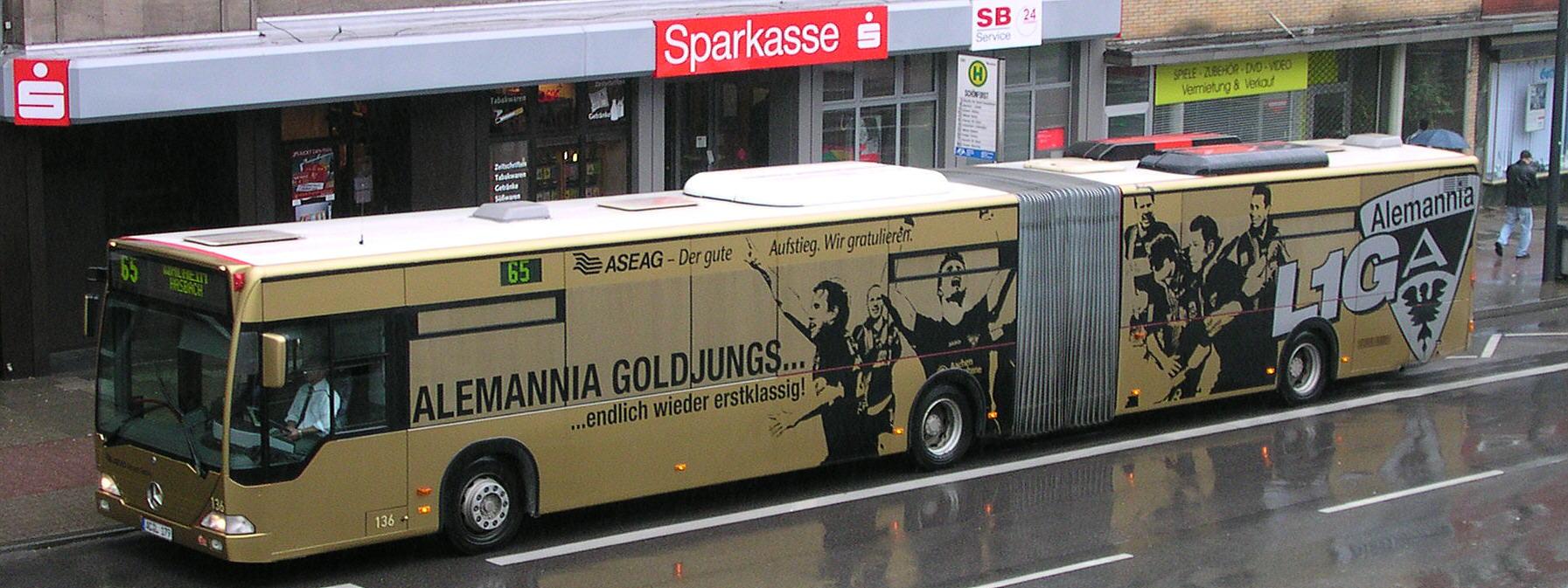 ASEAG Bus Alemannia Aachen Motiv
