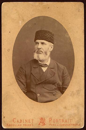 Портретна снимка на Александър Богориди, 1879 г. Братя Абдула