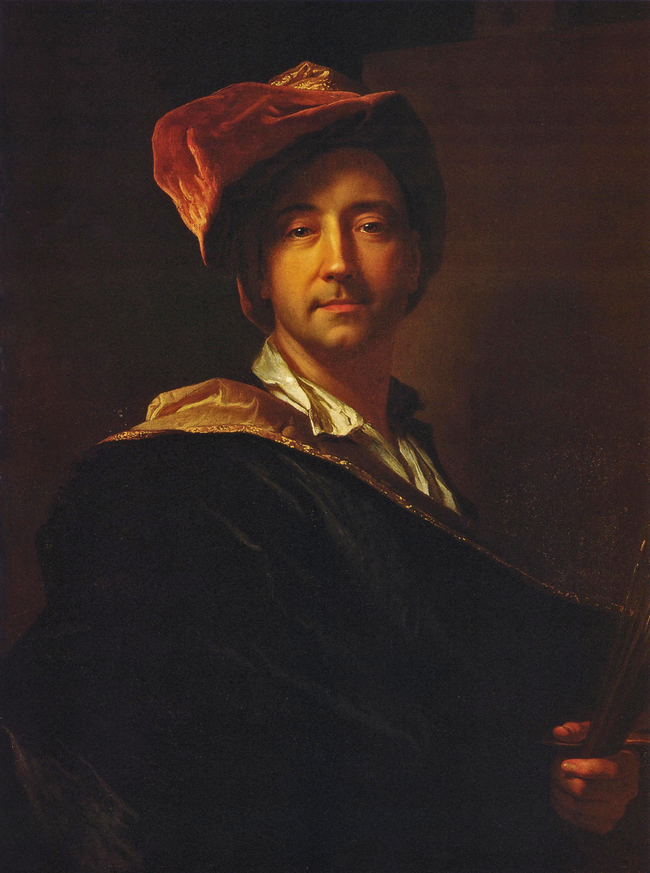 Depiction of Hyacinthe Rigaud