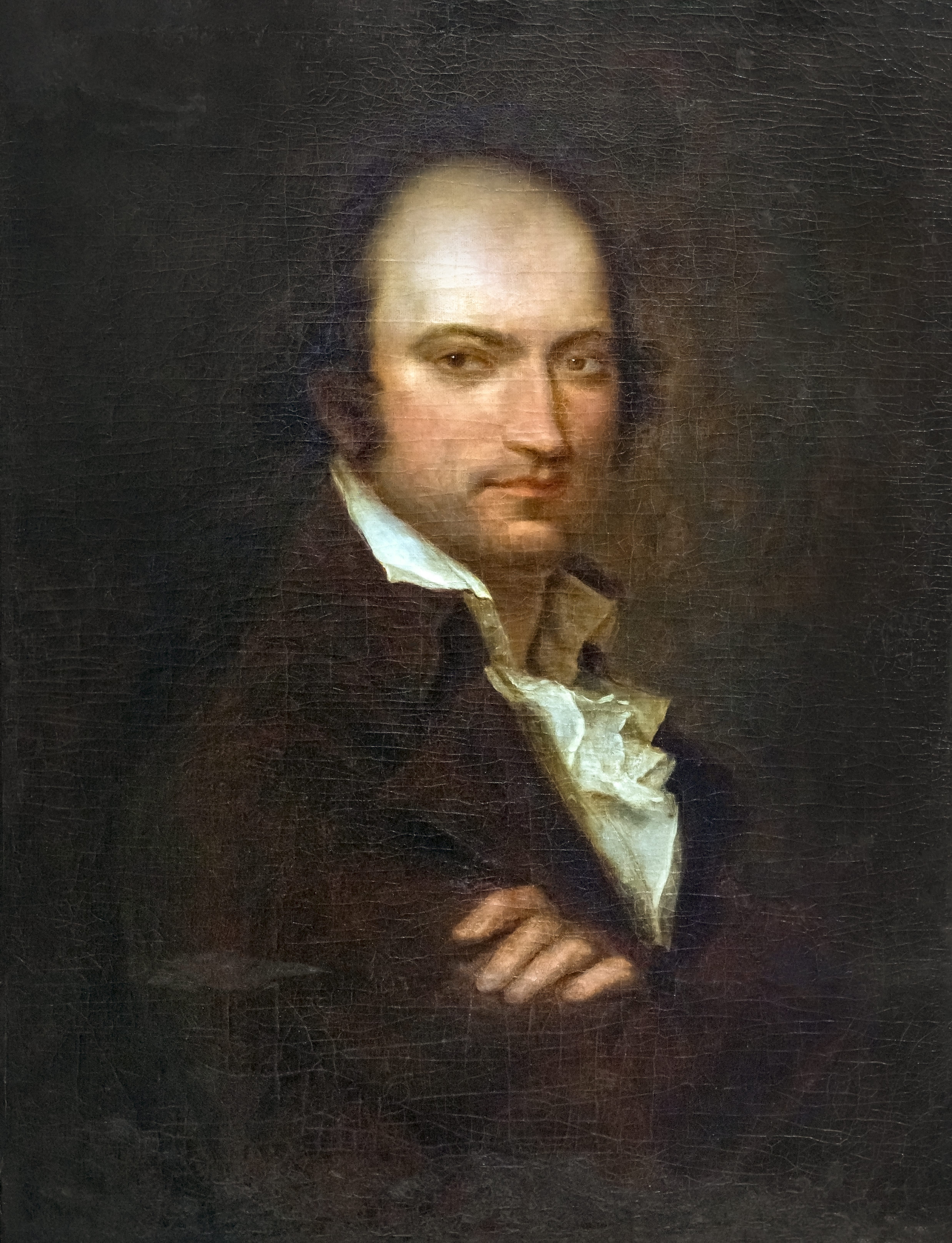 Portrait during his last captivity by [[Joseph-Benoît Suvée|Suvée]]