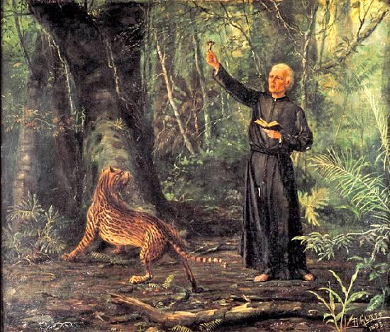 Ficheiro:Benedito Calixto - Evangelho nas Selvas, 1893 (ost, 58,5 x 70 cm - Padre Anchieta).jpg