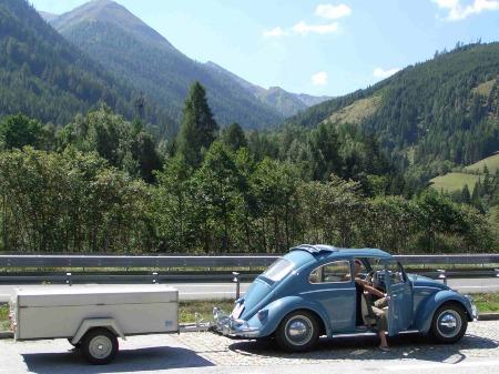 Scholz Brüderchen an einem VW Käfer