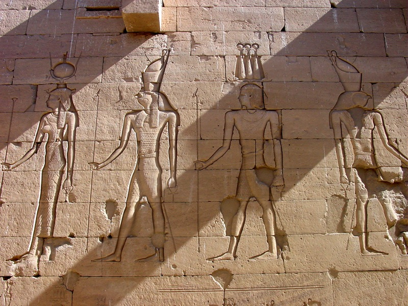 Carved relief from the temple walls of Kalabsha by John Campana