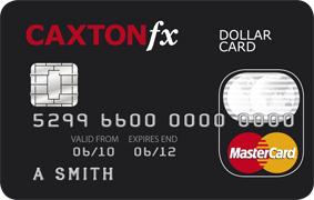Caxton FX prepaid MasterCard dollar card