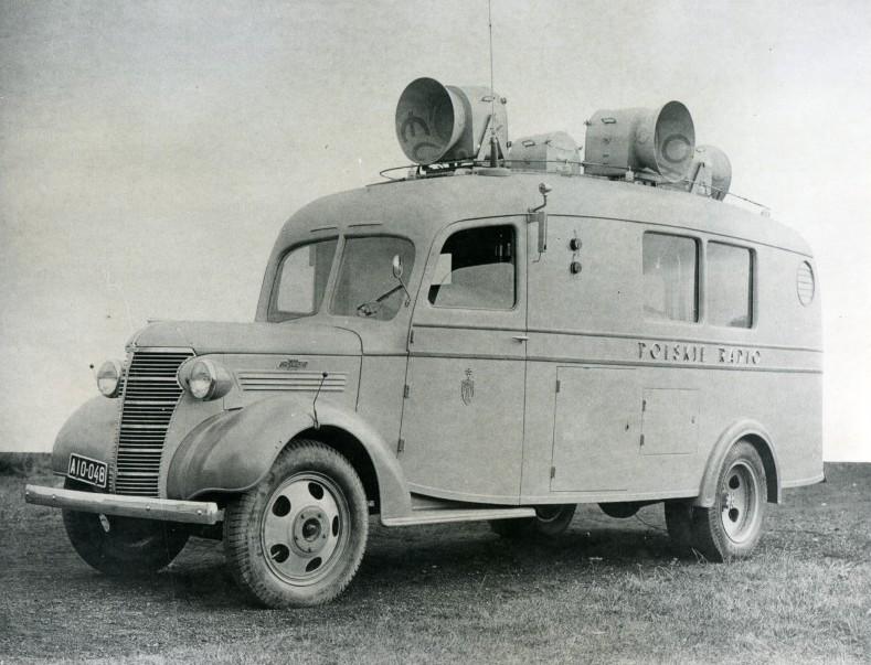 Wóz transmisyjny Polskiego Radia używany od 1939 roku