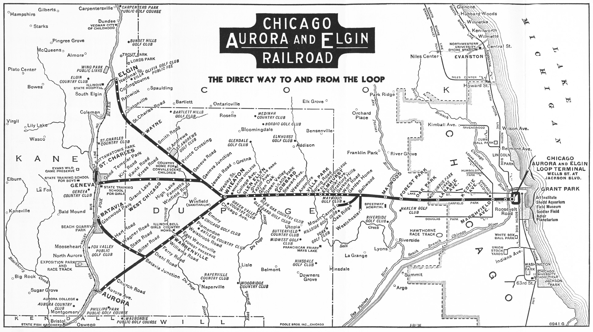 Chicago Rail Map from 1936 and what was to become the IPP The
