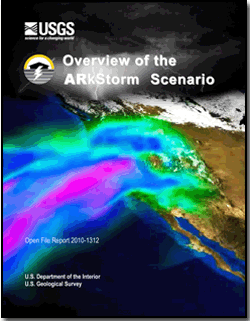 An ARkStorm (for atmospheric river 1,000 storm) is a hypothetical but scientifically realistic
