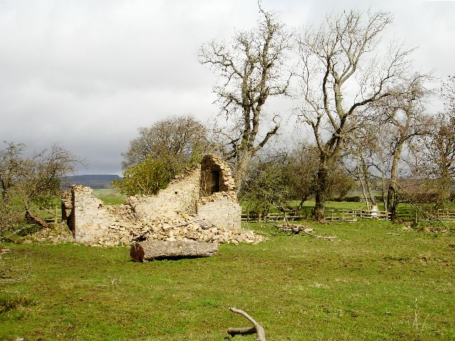 Derelict barn below Scalehow Rigg - geograph.org.uk - 1241211