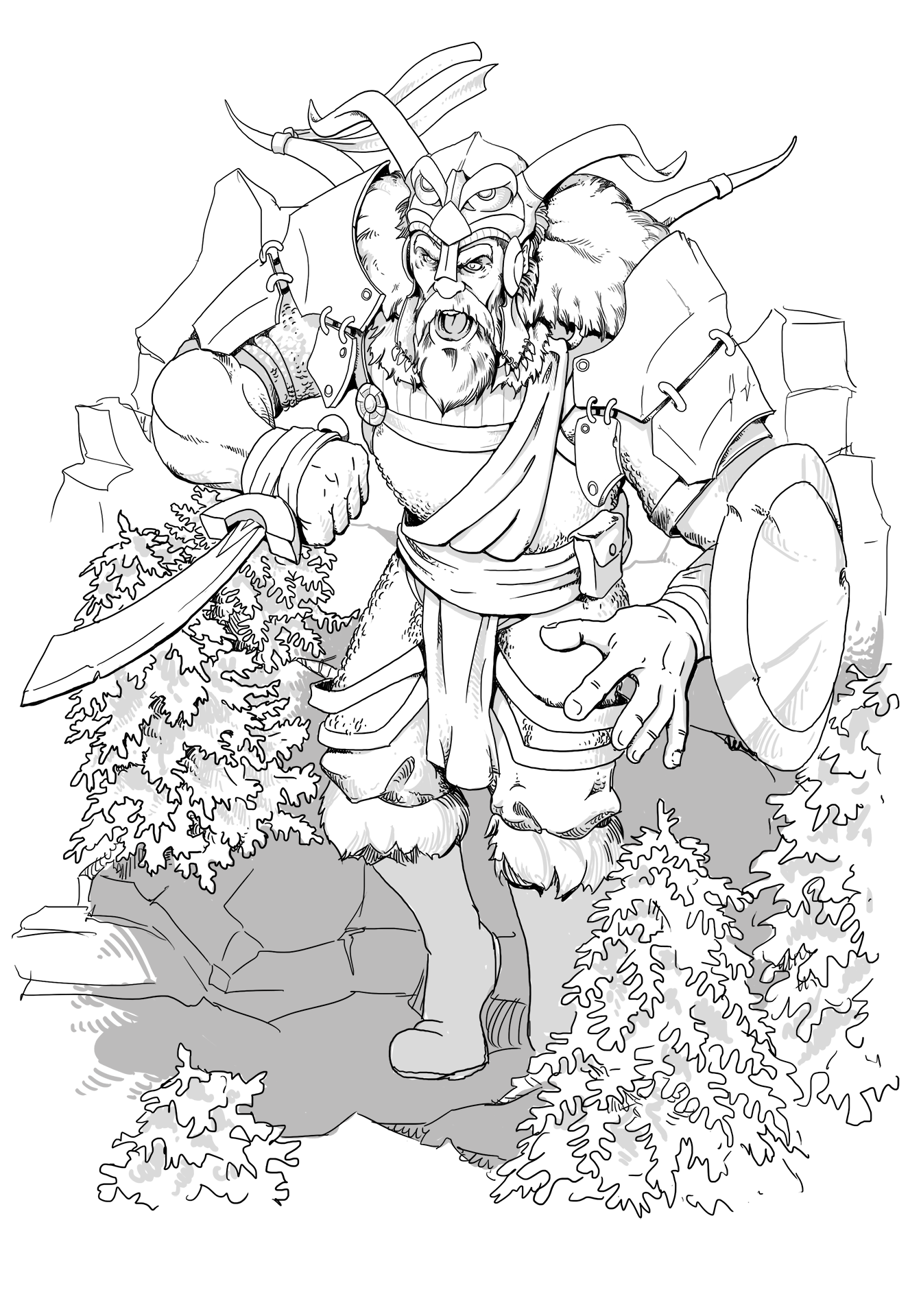 Firbolg Cleric Fantasy Art