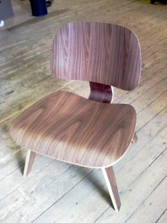The Eames Lounge Chair Wood - LWC chair. This ...