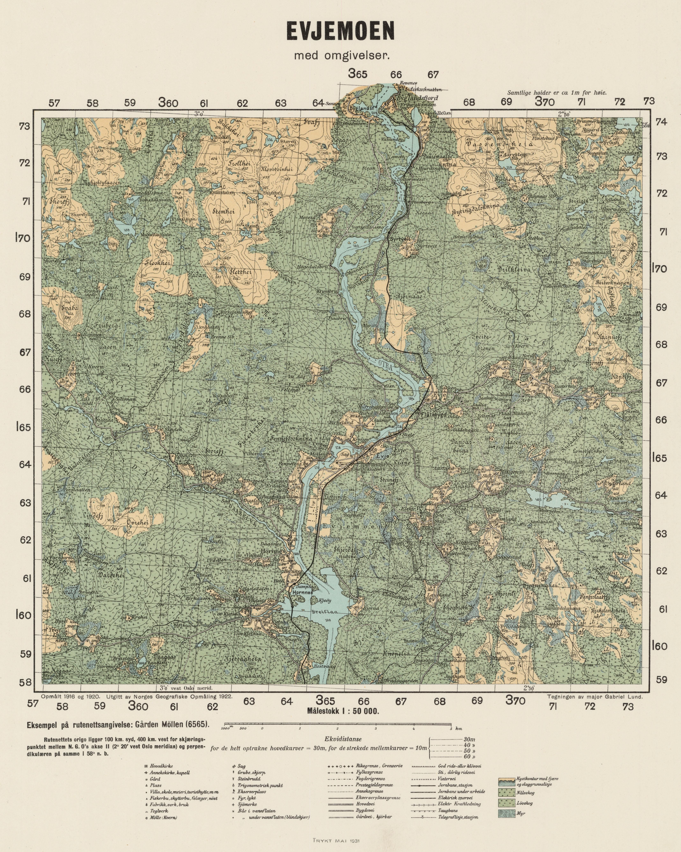 File Ekserserplasskart Evjemoen Med Omgivelser 1922 Jpg