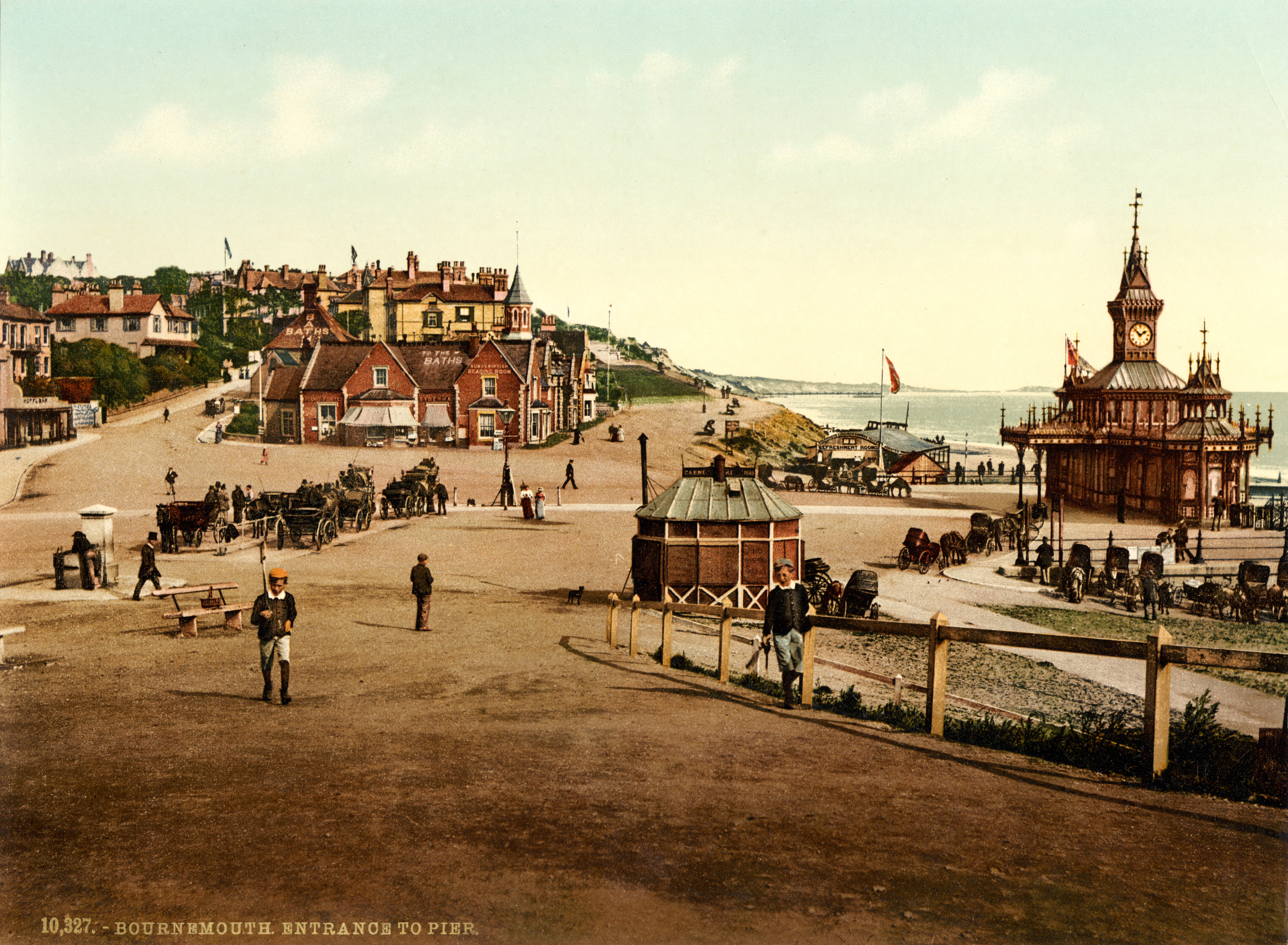 File Entrance To The Pier Bournemouth England 1890s Jpg