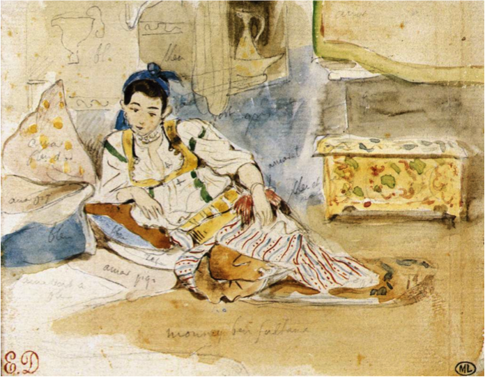 Fileeugene Delacroix Woman Seated Study For Femmes D
