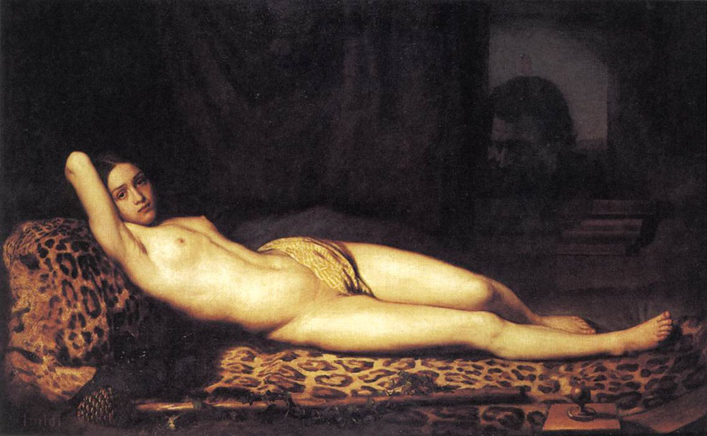 Félix Trutat Nude girl on a panther skin.jpg