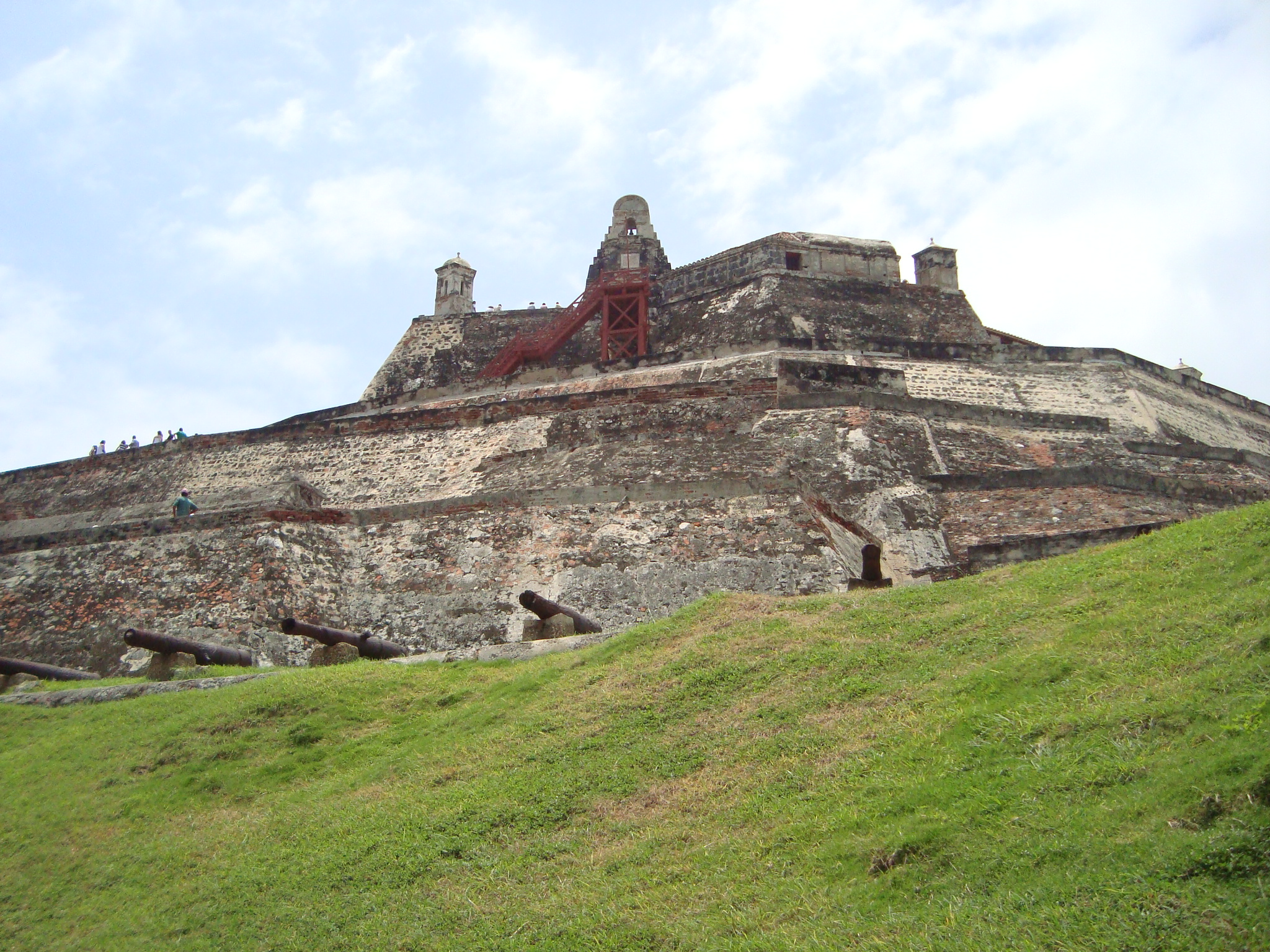 San Felipe de Barajas Fortress Cartagena de Indias. In 1741 the Spanish defeated a vast British invasion fleet and army from this fortress in present-day Colombia during the Battle of Cartagena de Indias.
