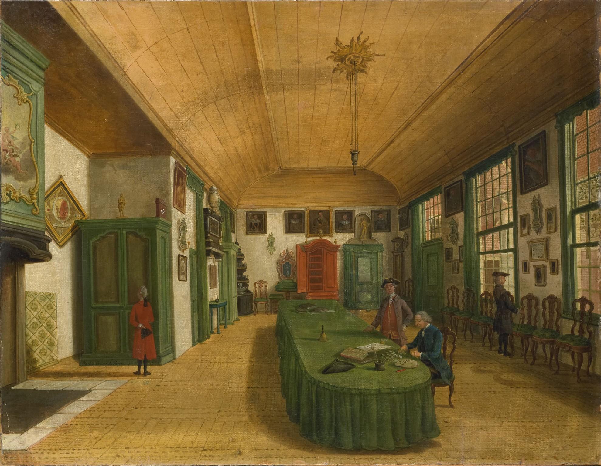 Interieur kunst  File:Fargue, Paulus Constantijn la - Interieur van de zaal van het ...