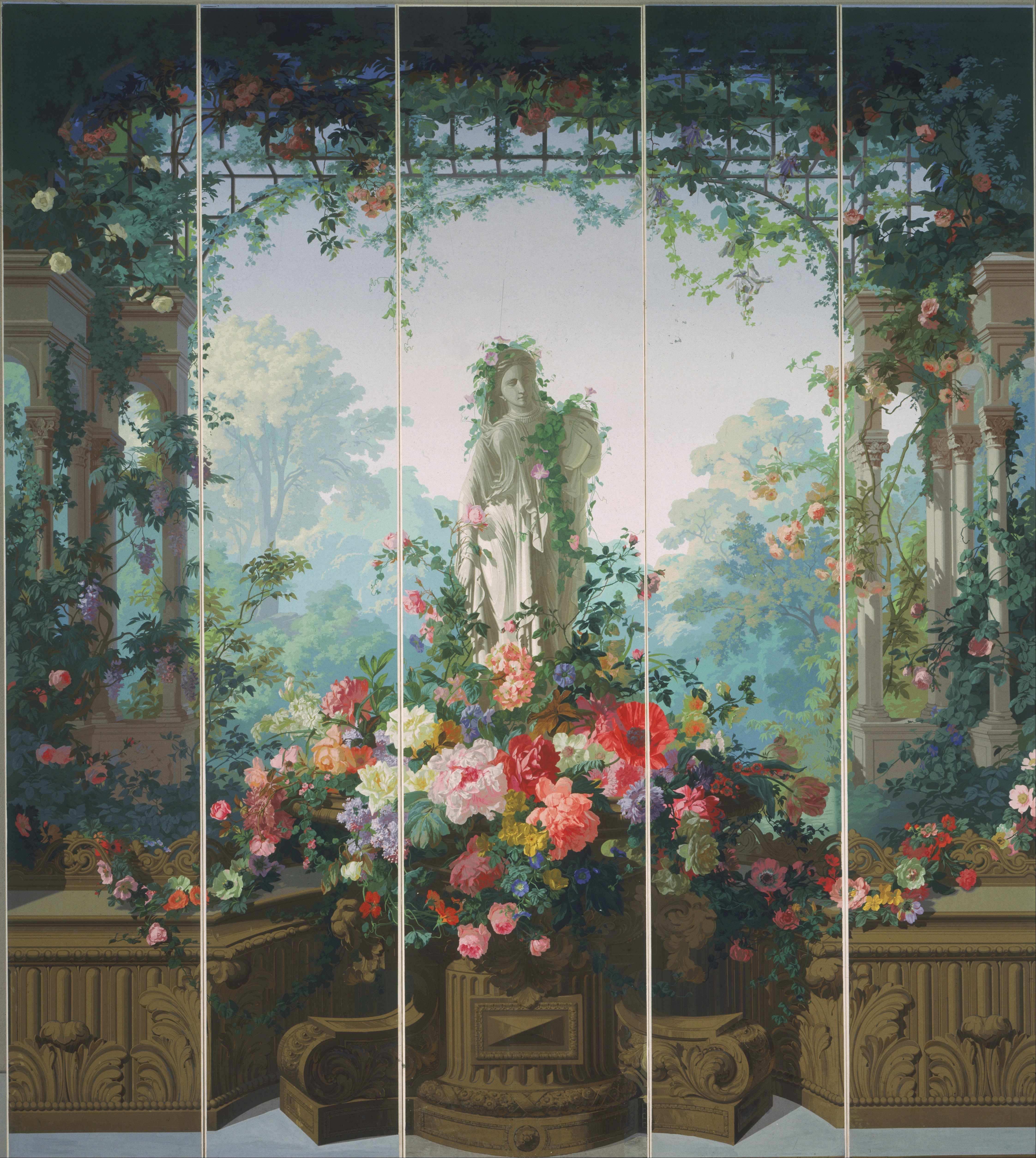Types Of Wallpaper Coverings: File:Garden Of Armida Wallpaper (1854) By Édouard Muller