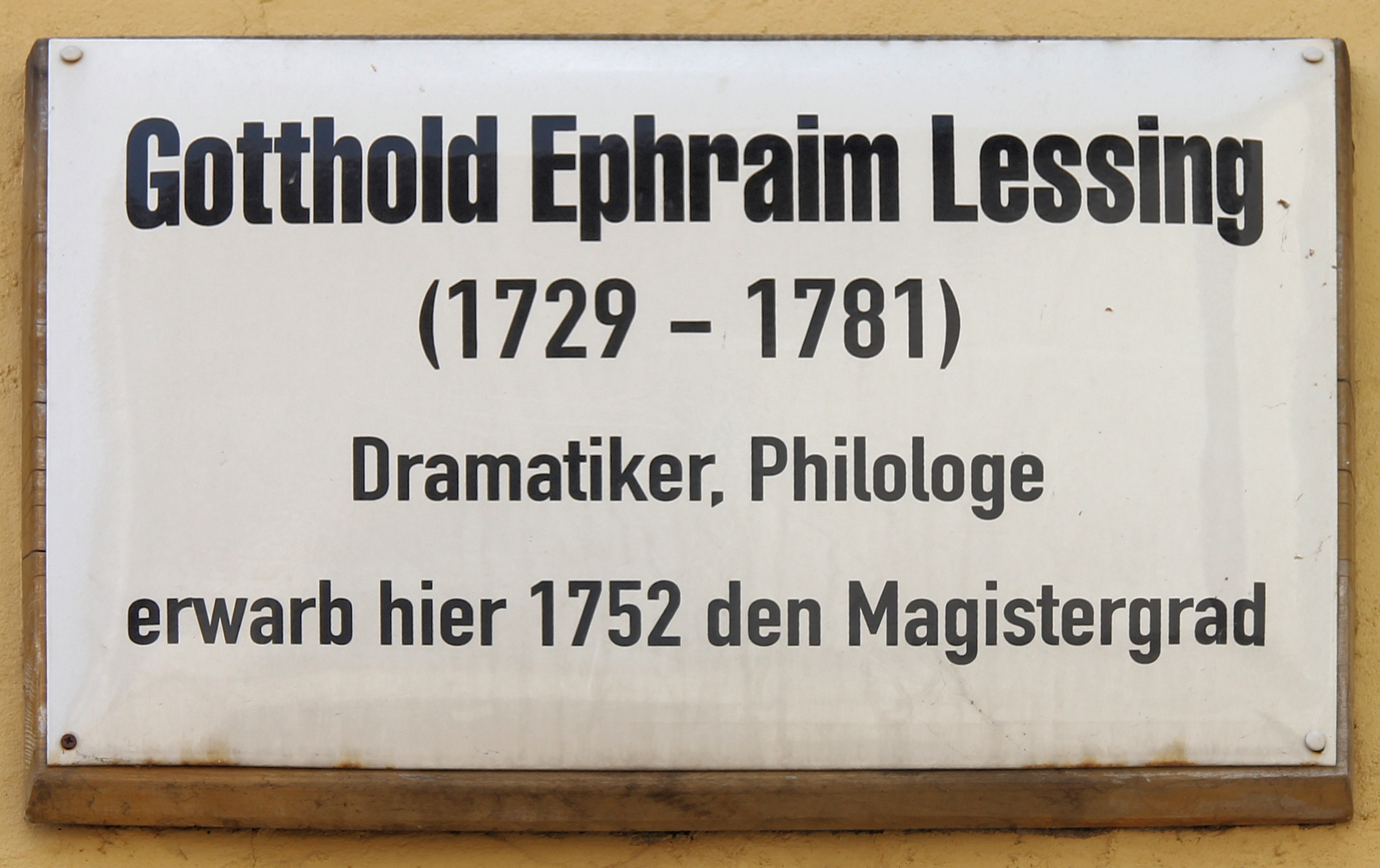 Datei Gedenktafel Kirchplatz 26 Wittenberg Gotthold Ephraim